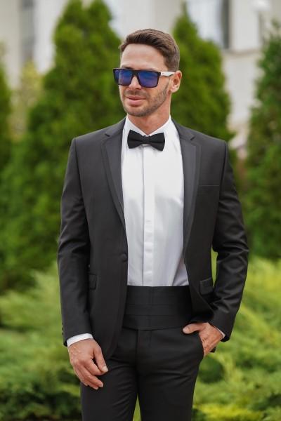 Втален костюм черен смокинг