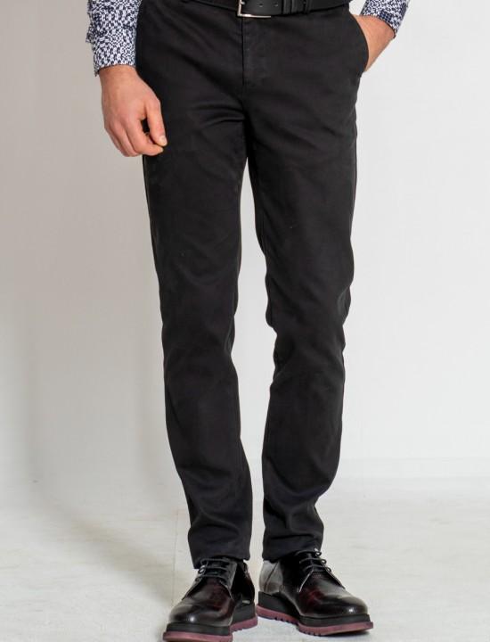 Втален мъжки панталон в черен цвят