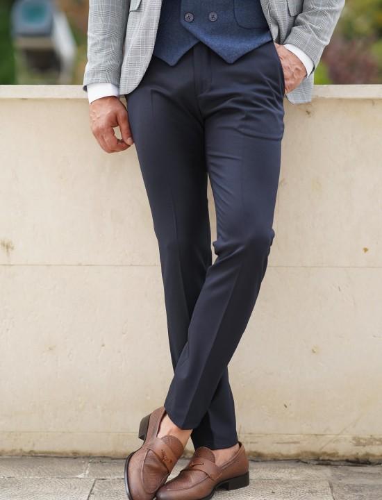 Втален мъжки син панталон