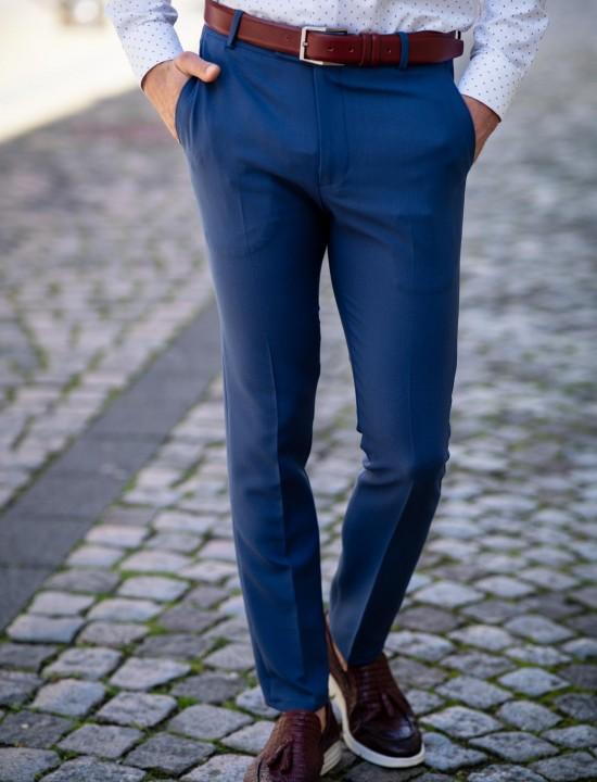 Втален мъжки панталон цвят парламент