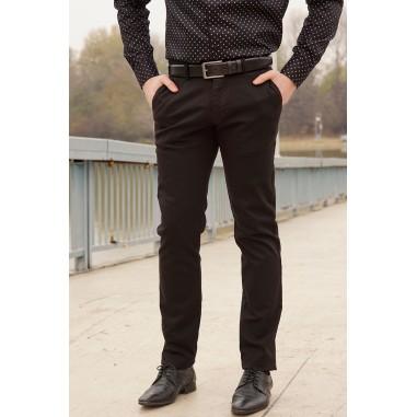Втален мъжки панталон черен цвят