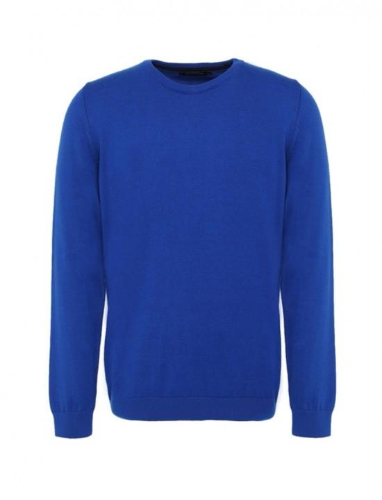 Втален мъжки пуловер в цвят Парламент