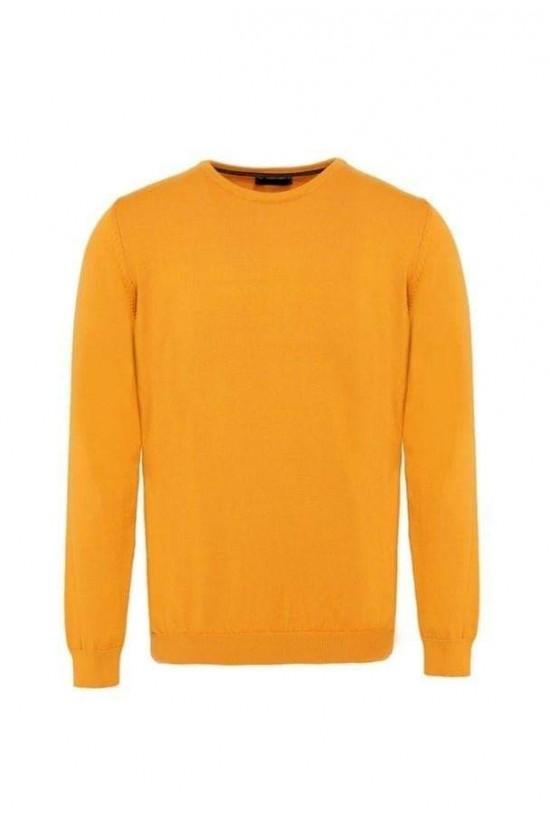Втален мъжки пуловер Камел