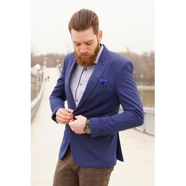 Вталено мъжко сако син парламент