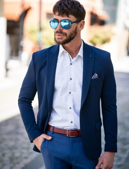 Вталено мъжко сако в цвят парламент