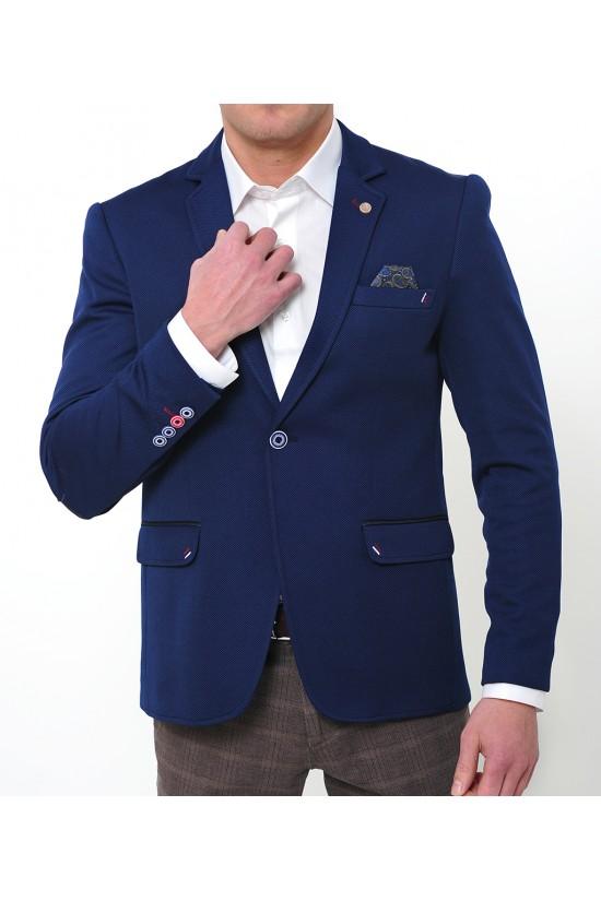 28e37acfc32 Вталено синьо сако парламент